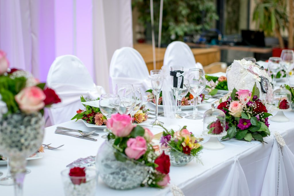 wedding venue table settings